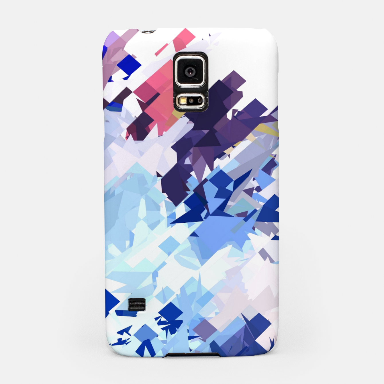 Image of splash geometric pattern abstract background in blue pink purple Samsung Case - Live Heroes