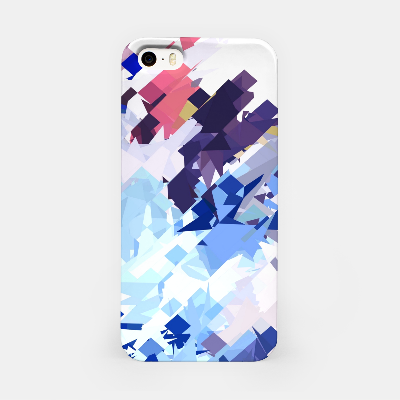 Image of splash geometric pattern abstract background in blue pink purple iPhone Case - Live Heroes