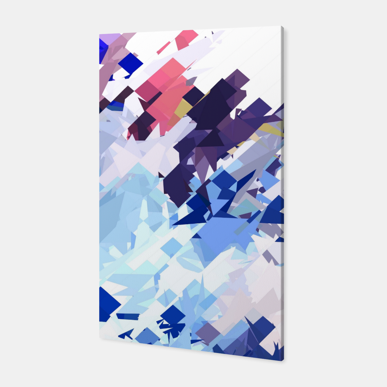 Image of splash geometric pattern abstract background in blue pink purple Canvas - Live Heroes