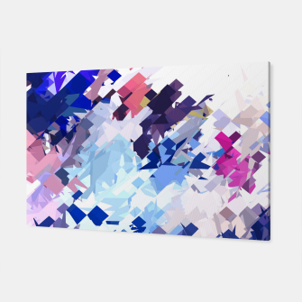 splash geometric pattern abstract background in blue pink purple Canvas thumbnail image