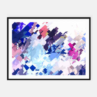 Thumbnail image of splash geometric pattern abstract background in blue pink purple Framed poster, Live Heroes