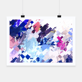 splash geometric pattern abstract background in blue pink purple Poster thumbnail image