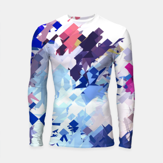 splash geometric pattern abstract background in blue pink purple Longsleeve rashguard  thumbnail image