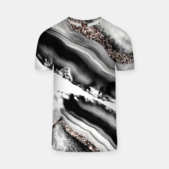 Miniaturka Agate Rose Gold Glitter Glam #2 #gem #decor #art  T-Shirt, Live Heroes