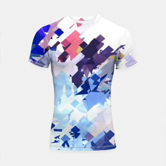 splash geometric pattern abstract background in blue pink purple Shortsleeve rashguard thumbnail image