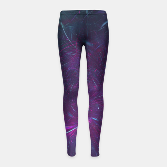 Miniaturka Abstract Space Girl's leggings, Live Heroes