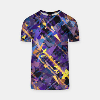 Miniaturka splash geometric triangle pattern abstract background in blue purple yellow T-shirt, Live Heroes