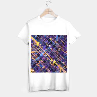 Miniatur splash geometric triangle pattern abstract background in blue purple yellow T-shirt regular, Live Heroes