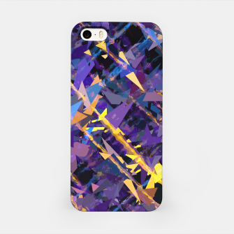 Miniatur splash geometric triangle pattern abstract background in blue purple yellow iPhone Case, Live Heroes