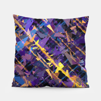 Miniaturka splash geometric triangle pattern abstract background in blue purple yellow Pillow, Live Heroes