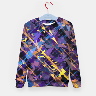 Miniaturka splash geometric triangle pattern abstract background in blue purple yellow Kid's sweater, Live Heroes