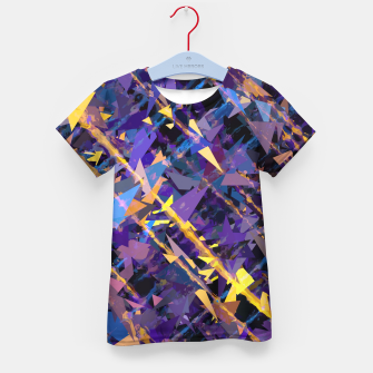 Miniaturka splash geometric triangle pattern abstract background in blue purple yellow Kid's t-shirt, Live Heroes