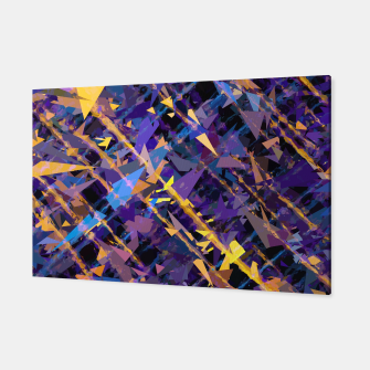 Miniaturka splash geometric triangle pattern abstract background in blue purple yellow Canvas, Live Heroes