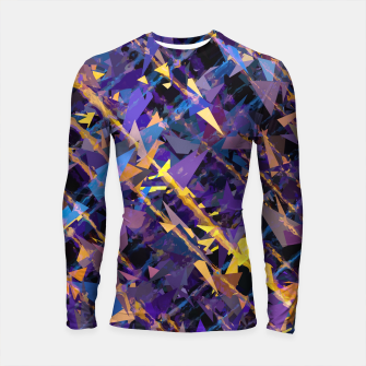Miniaturka splash geometric triangle pattern abstract background in blue purple yellow Longsleeve rashguard , Live Heroes