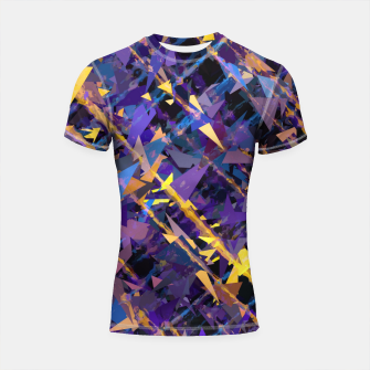 Miniaturka splash geometric triangle pattern abstract background in blue purple yellow Shortsleeve rashguard, Live Heroes