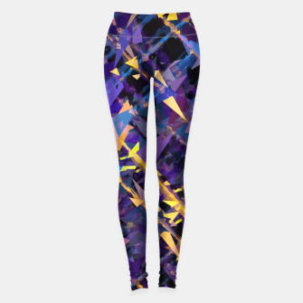 Miniaturka splash geometric triangle pattern abstract background in blue purple yellow Leggings, Live Heroes