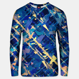Miniaturka splash geometric triangle pattern abstract background in blue and yellow Unisex sweater, Live Heroes