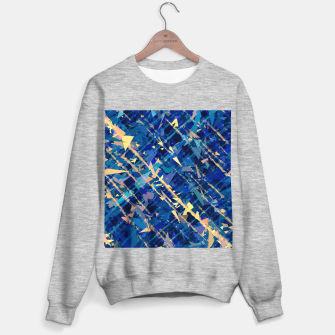 Miniaturka splash geometric triangle pattern abstract background in blue and yellow Sweater regular, Live Heroes