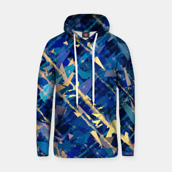 Miniaturka splash geometric triangle pattern abstract background in blue and yellow Hoodie, Live Heroes