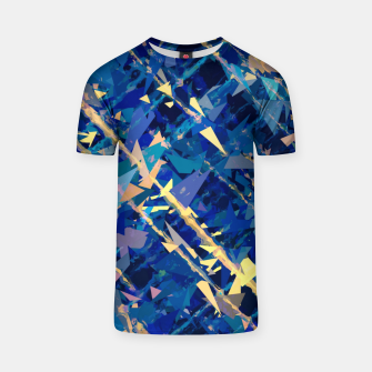 Miniaturka splash geometric triangle pattern abstract background in blue and yellow T-shirt, Live Heroes