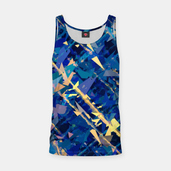 Miniaturka splash geometric triangle pattern abstract background in blue and yellow Tank Top, Live Heroes