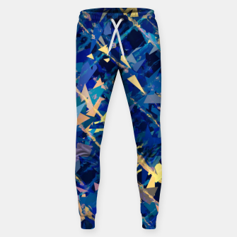 Miniaturka splash geometric triangle pattern abstract background in blue and yellow Sweatpants, Live Heroes