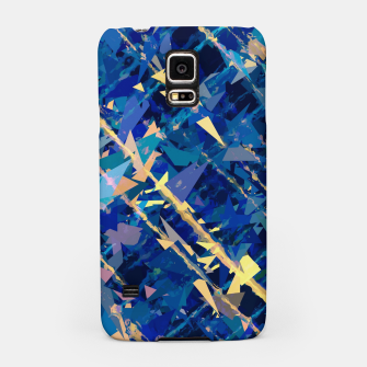 Miniaturka splash geometric triangle pattern abstract background in blue and yellow Samsung Case, Live Heroes
