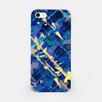 Miniatur splash geometric triangle pattern abstract background in blue and yellow iPhone Case, Live Heroes
