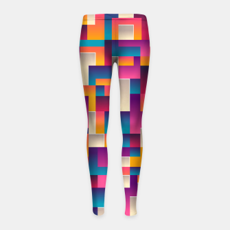 Thumbnail image of Boxes Girl's leggings, Live Heroes