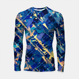 Miniaturka splash geometric triangle pattern abstract background in blue and yellow Longsleeve rashguard , Live Heroes