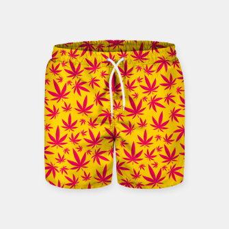 Thumbnail image of Weed Pattern Swim Shorts, Live Heroes