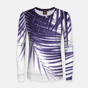 Miniatur Palm Leaves Ultra Violet Vibes #2 #tropical #decor #art Frauen sweatshirt, Live Heroes
