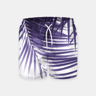 Miniatur Palm Leaves Ultra Violet Vibes #2 #tropical #decor #art Badeshorts, Live Heroes