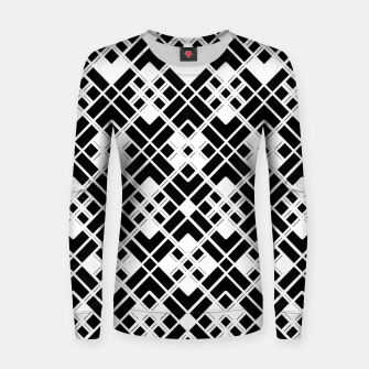 Miniatur Abstract geometric pattern - black and white. Women sweater, Live Heroes