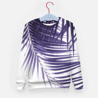 Thumbnail image of Palm Leaves Ultra Violet Vibes #2 #tropical #decor #art Kindersweatshirt, Live Heroes