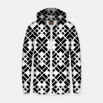 Miniaturka Abstract geometric pattern - black and white. Zip up hoodie, Live Heroes