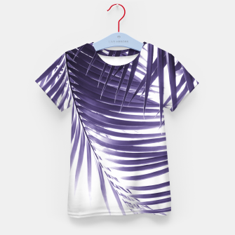 Thumbnail image of Palm Leaves Ultra Violet Vibes #2 #tropical #decor #art T-Shirt für kinder, Live Heroes