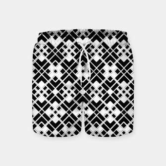 Miniatur Abstract geometric pattern - black and white. Swim Shorts, Live Heroes