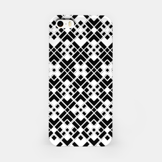 Miniatur Abstract geometric pattern - black and white. iPhone Case, Live Heroes