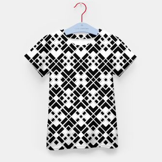 Miniatur Abstract geometric pattern - black and white. Kid's t-shirt, Live Heroes