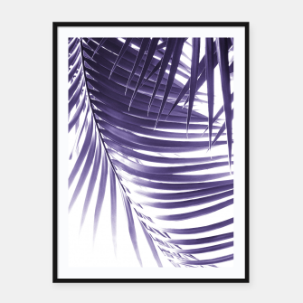 Thumbnail image of Palm Leaves Ultra Violet Vibes #2 #tropical #decor #art Plakat mit rahmen, Live Heroes