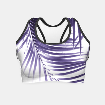 Thumbnail image of Palm Leaves Ultra Violet Vibes #2 #tropical #decor #art Crop Top, Live Heroes