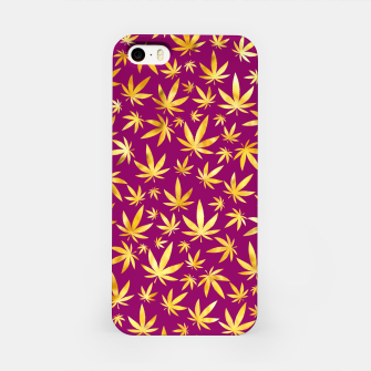 Miniatur Gold Weed Pattern iPhone Case, Live Heroes