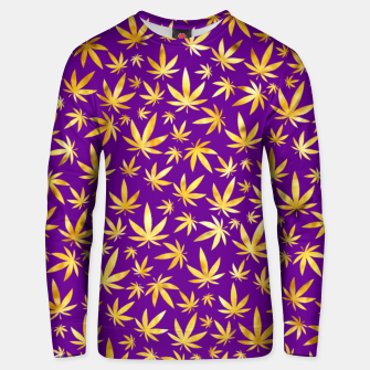 Thumbnail image of Gold Weed Pattern Unisex sweater, Live Heroes