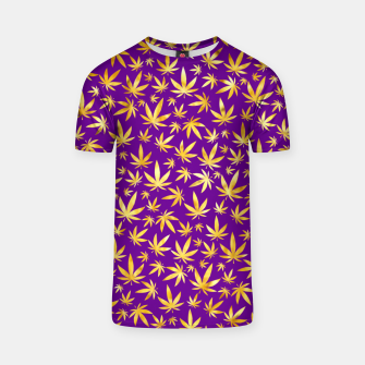 Thumbnail image of Gold Weed Pattern T-shirt, Live Heroes