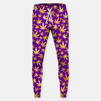 Thumbnail image of Gold Weed Pattern Sweatpants, Live Heroes