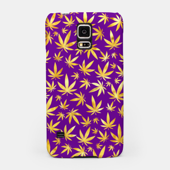 Thumbnail image of Gold Weed Pattern Samsung Case, Live Heroes