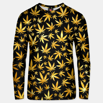 Thumbnail image of Black Gold Weed Pattern Unisex sweater, Live Heroes
