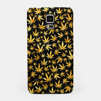 Thumbnail image of Black Gold Weed Pattern Samsung Case, Live Heroes