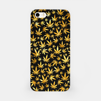 Miniatur Black Gold Weed Pattern iPhone Case, Live Heroes